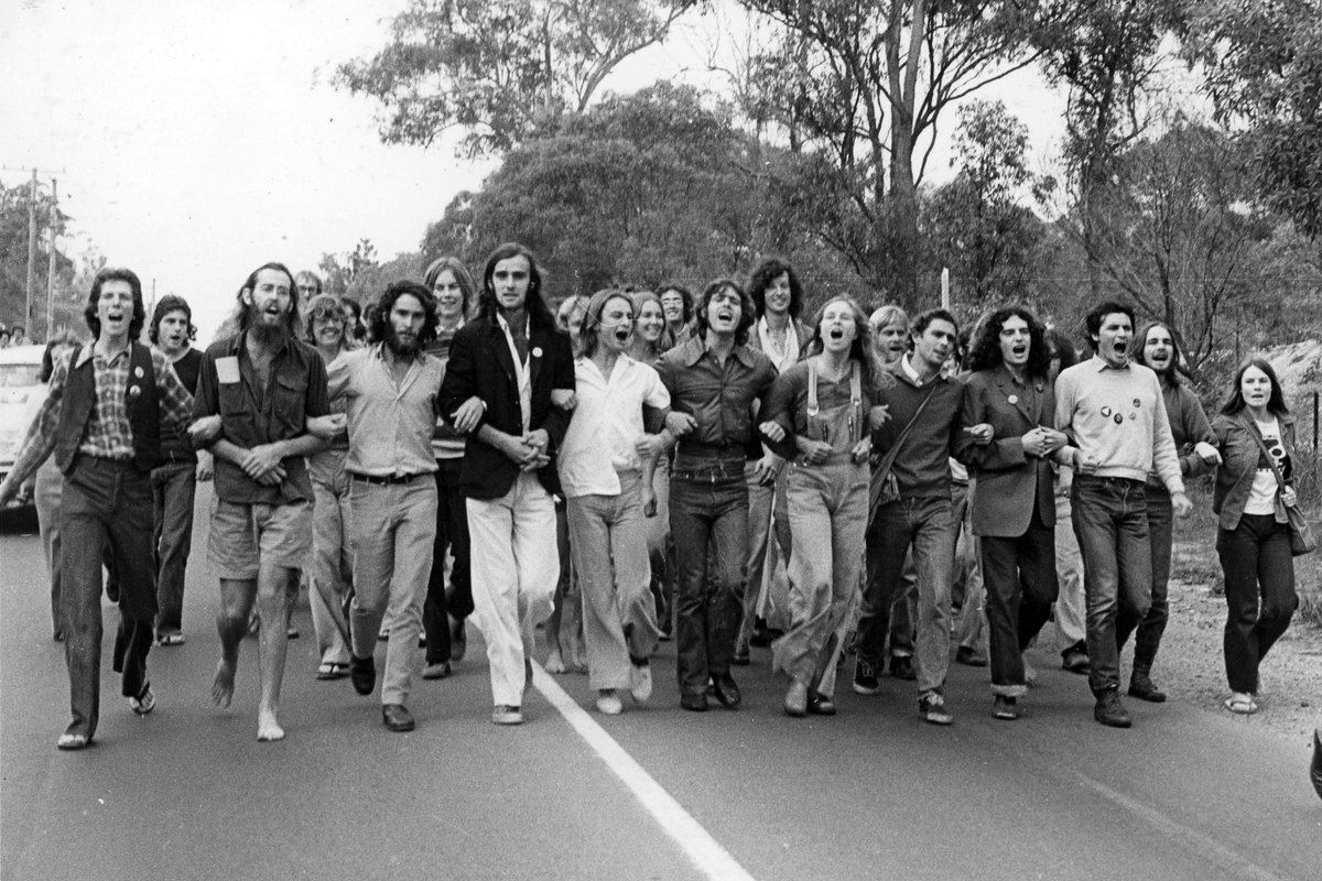 Student protest march at Griffith University (c. 1976)