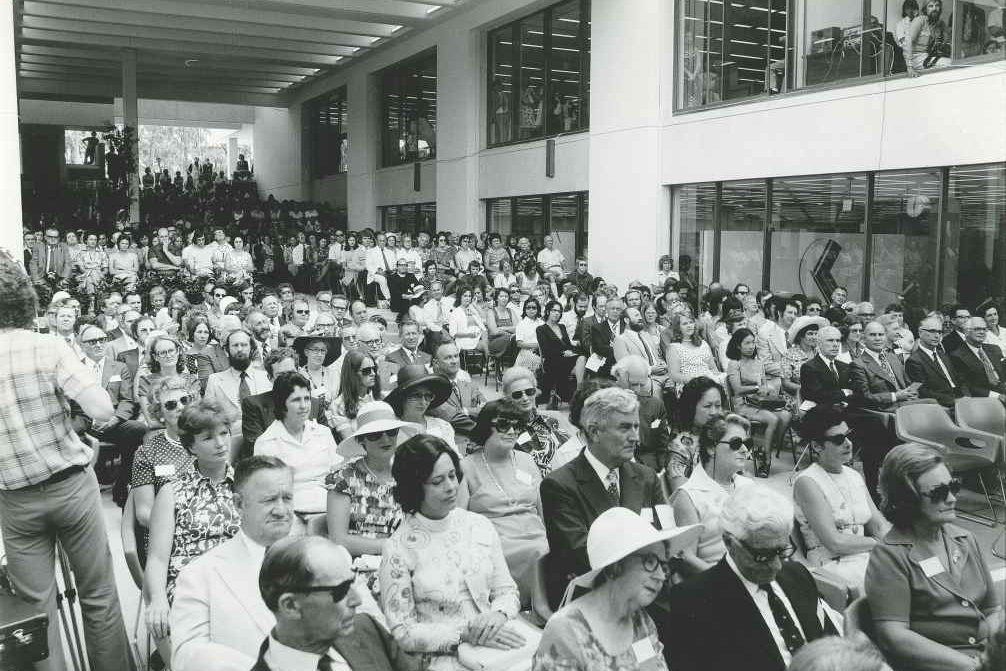 Audience Attending the Opening Day of Teaching -1975